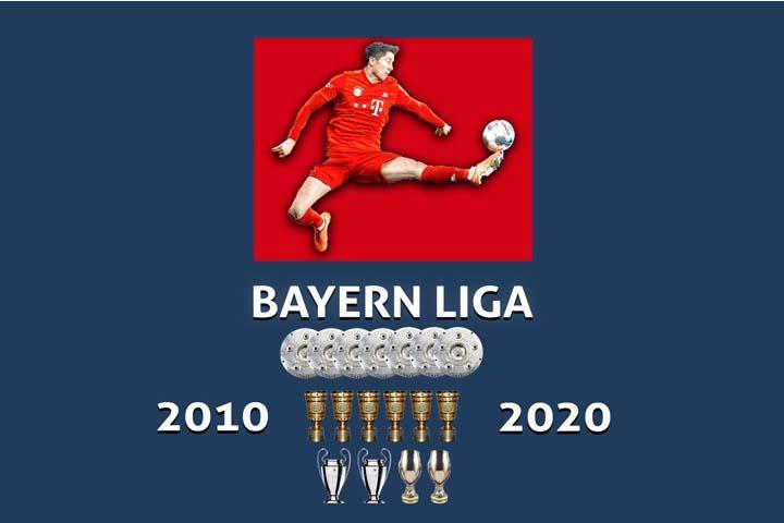 Bayern München bijna altijd kampioen