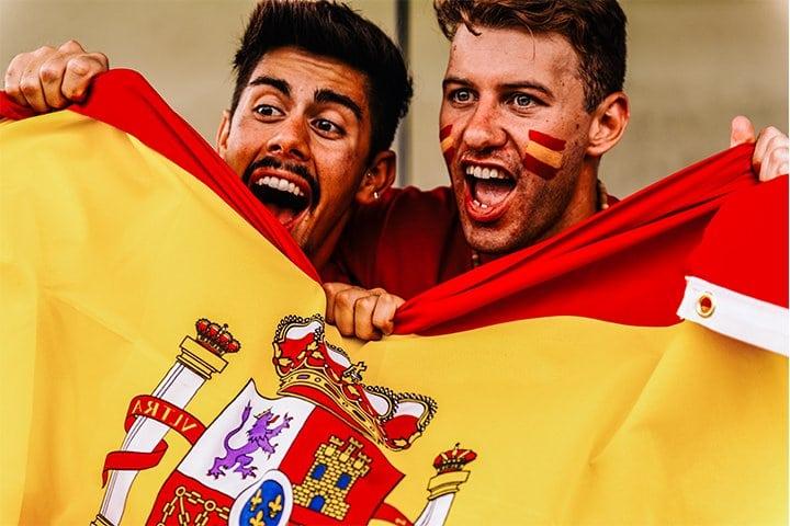 Supporters van Spanje