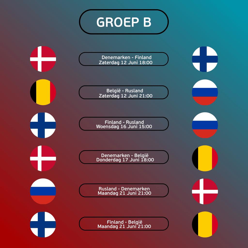 Groepsfase Wedstrijdschema Groep B (1)